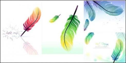 plumas-de-colores-de-vectores_411658