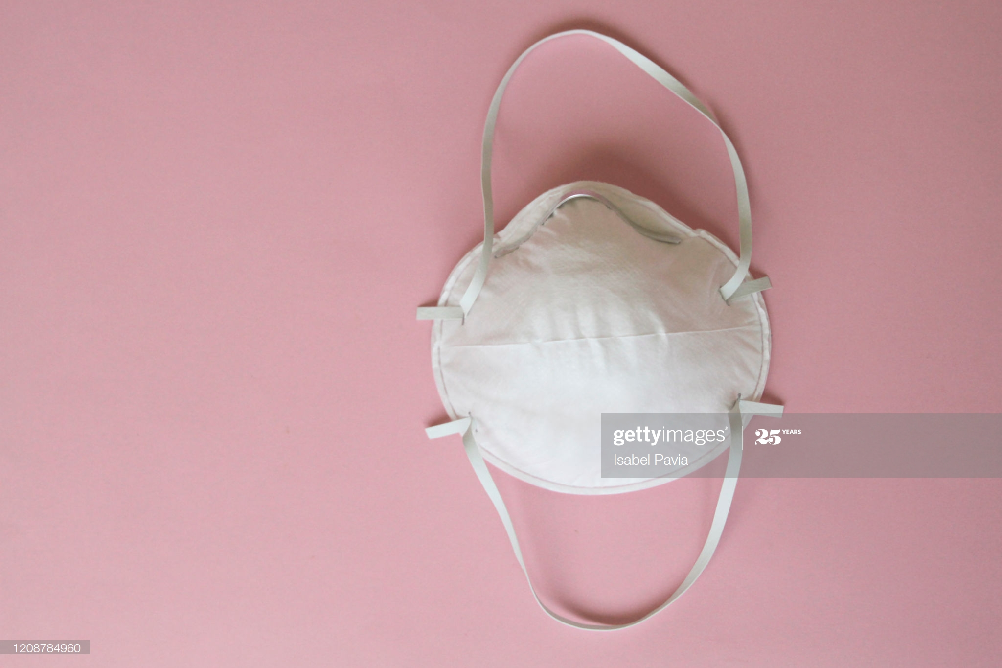 Face Mask On Pink Background